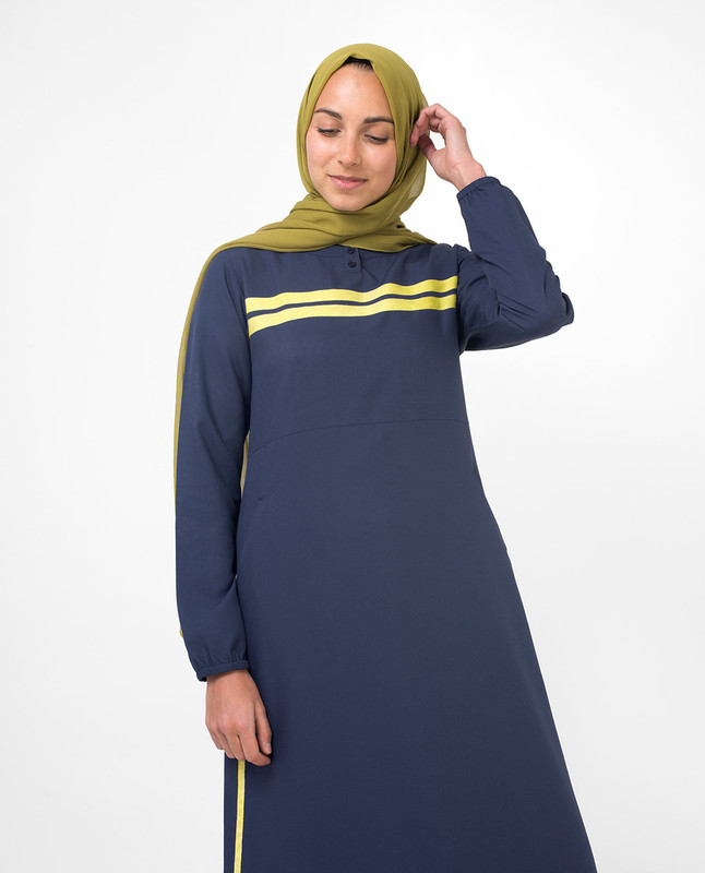 Classic Yellow Highlight Jilbab