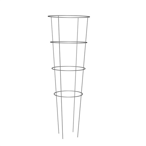 42-in Steel Tomato Cage  Vertical support for plants Small size is ideal for smaller plants Great for containers Stackable Pre-galvanized wire for rust resistance Materials:	Steel