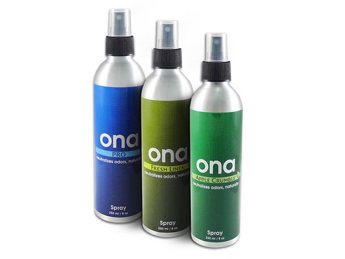 Once the ONA spray is used the ONA particles disperse in the air and when they come into contact with odourous molecules they render them null and inert, removing the odour from the air and leaving a fresh scent.  ONA is environmentally friendly, non toxic and organic oil based with the oils extracted from flowers.