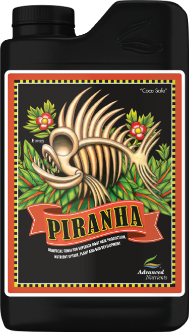 """Piranha   Now You Can Increase The Size And Efficiency Of Your Plant's Roots!  When you introduce the powerful beneficial fungi in Piranha to your root zone, you'll experience many amazing benefits. First, the fungi will help expand the effective surface area of your plant roots and their cumulative length by up to 75%. Scientific tests have shown this can help your crops obtain as much as 86% more nitrogen, 234% more phosphorous and 75% more potassium than growing without these fungi. And this, of course, translates directly into heightened vegetative growth, greater leaf area, more bud production, better flower structure and increased weight! Plus, these fungi secrete growth and bloom co-factors directly into your plants, further increasing yields. Lastly, Piranha's fungal species are proven bio-control agents that seek and destroy harmful pathogens, including moulds, while strengthening crop resistance to stress. Try Piranha, and because our Grower Guarantee ensures your 100% satisfaction, you can only stand to gain by putting it to work in your garden today.  ATTENTION: Piranha is completely compatible with all non pH Perfect Base Nutrients and all competitors Base Nutrients and Supplements."""