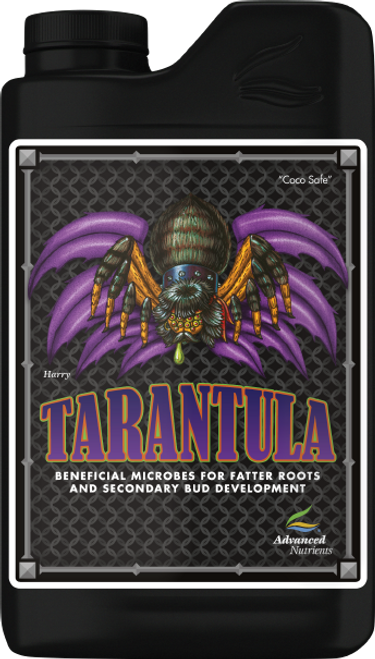 """Tarantula   Put Beneficial Microbes To Work In Your Root Zone  If you grew in the richest, most unpolluted outdoor soil, your root zone would swarm with beneficial microbes that live symbiotically with your plants, swelling their roots and boosting harvests. However, hydroponic growing media are devoid of these microorganisms. That's why you need Tarantula, whose beneficial bacteria promote other beneficial rhizospheric life. They also inoculate the roots, safeguarding them by competing with and warding off harmful bacteria that can infect plants. And they even reduce tissue damage from heavy fertilizer salts. What's more, these beneficial bacteria directly increase plant growth and yields by releasing growth and bloom co-factors and aiding chlorophyll, so your high-intensity lighting is more effective. Finally, our proprietary production process ensures longer shelf life, so you get live microbes instead of dead ones when you add it to your reservoir. As always, you're fully protected using Tarantula by our 100% full-satisfaction Grower Guarantee.  ATTENTION: Tarantula is completely compatible with all non pH Perfect Base Nutrients and all competitors Base Nutrients and Supplements."""