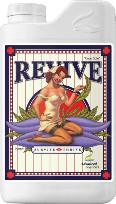 """Revive  Put Your Plants Back Into Peak Condition  Revive helps you maintain premium hydroponics crops providing your plants what they need for robust photosynthesis, respiration, full ripening of flowers, and vigorous growth. Use Revive to avoid weakened stems, discoloured leaves or slow growth."""