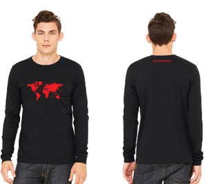World Map Mens Long Sleeve Tee