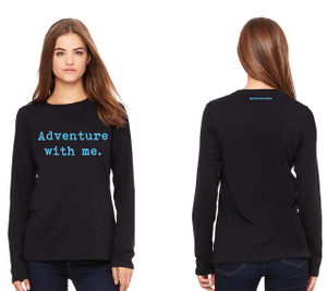 Adventure With Me Ladies Long Sleeve Relaxed Jersey Tee