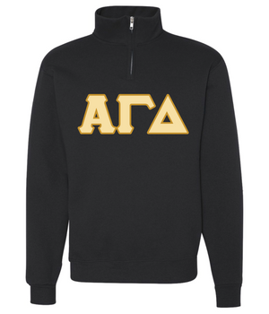 AGD Stitched Letters Unisex 1/4 Zip