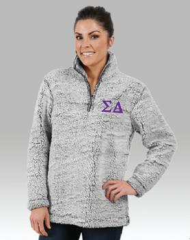 Sigma Delta Unisex Sherpa  1/4 Zip