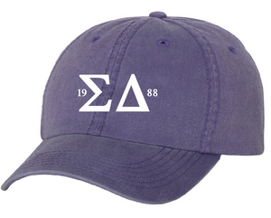 Sigma Delta Letters Pigment Dyed Hat