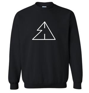Sigma Delta Unisex Black Crewneck Sweatshirt