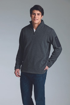 Charles River Apparel Men's Heathered 1/4 Zip Fleece