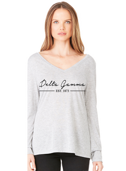 DG Flowy Long Sleeve V-Neck
