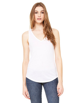 Bella Ladies' Flowy V-Neck Tank
