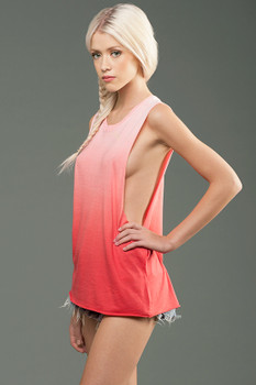 Micro Jersey Deep Side Cut  Muscle Tank