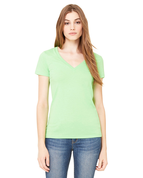 Bella Ladies Deep V-Neck Jersey T-Shirt