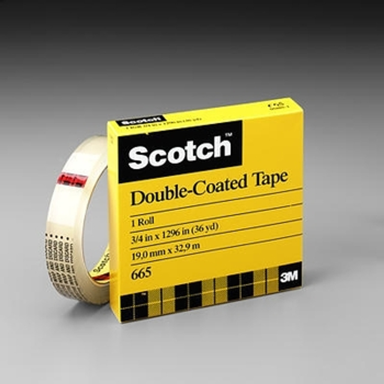 "Scotch Double Sided Tape 3M 665 1/2"" x 1296"""