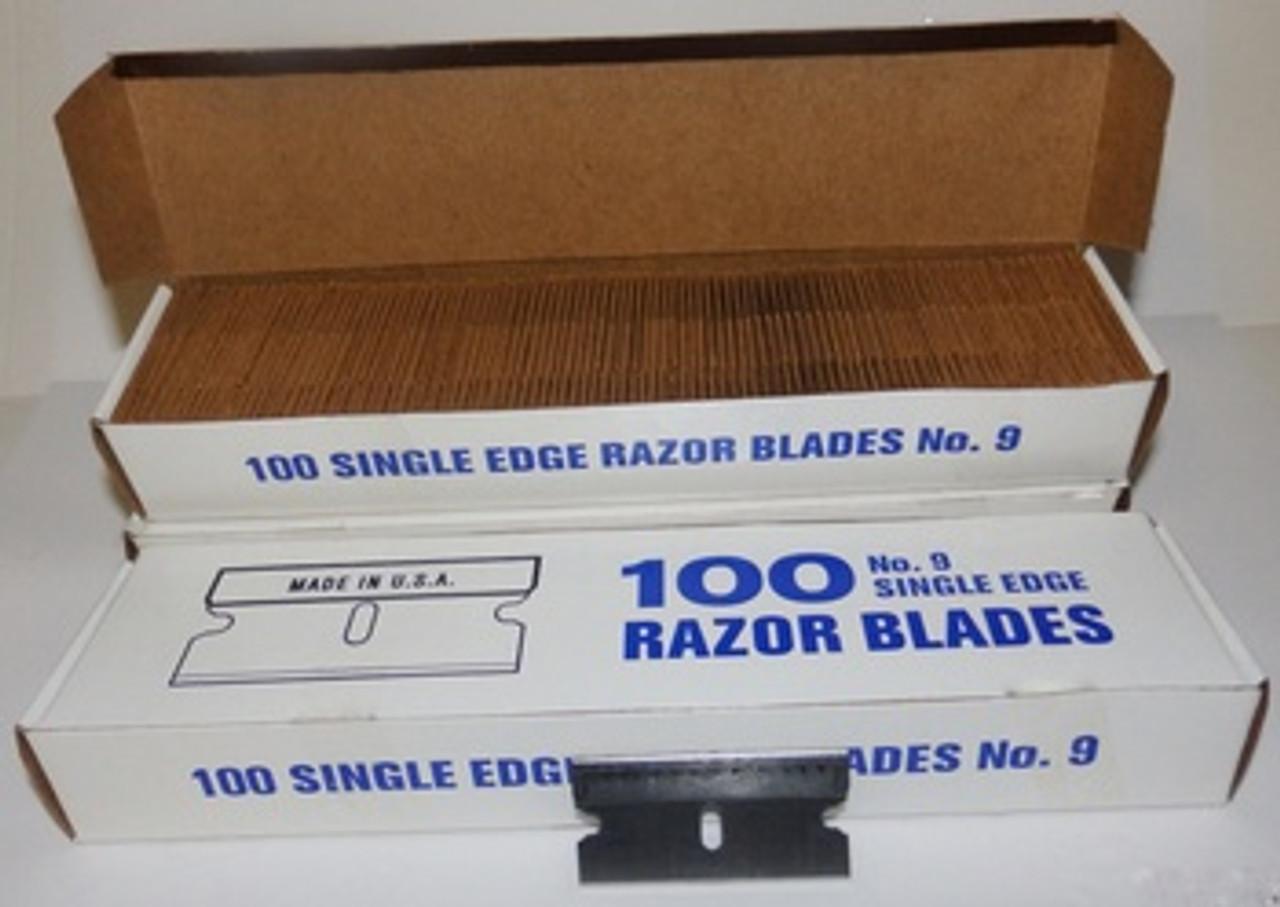 FLS, Single Edge Razor Blades, 100 box,.009, 9, FLS-SERB9