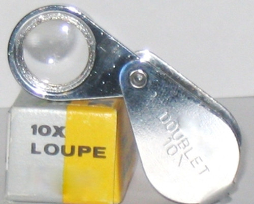 10X Loupe ,12mm , Chrome , Doublet , Teardrop , Selsi 415 , 10X-415