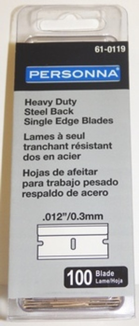 Single Edge Razor Blades, 12,  .012, Bulk Case, 50 boxes of 100, SE2-CS, 61-0119