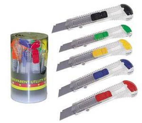Utility Knife, Boxcutter, Plastic, Safety Cutter, Bulk Case, qty 48, 30112UC-cs