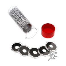 Air-Tite 10mm Coin Capsules & Tube for Gold Maximilian Peso