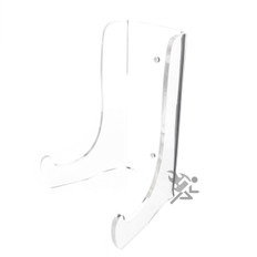 "7.5"" Heavy Duty Clear Acrylic Plate Display Stands"
