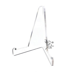 "3-3/8"" Clear Acrylic Display Stand Easels with 3/4"" Shelf"