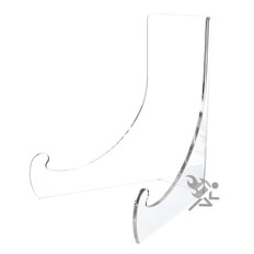 """9"""" Clear Acrylic Shallow Bowl Display Stand for 11"""" - 14"""" Bowls"""
