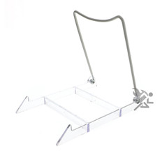 "Plate Display Stand Easels, 6-1/2"" Adjustable Wire Holder"