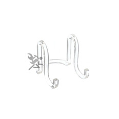 """Clear Acrylic Plate Display Stand, 3"""" Ribbon Easels"""