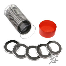Air-Tite 33mm Coin Capsules & Tube for 1/2oz Silver Libertad