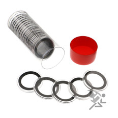 Air-Tite 31mm Coin Capsules & Tube for 1/2oz Sterling Panda