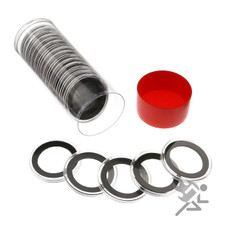 Air-Tite 30mm Coin Capsules & Tube for US Half Dollars