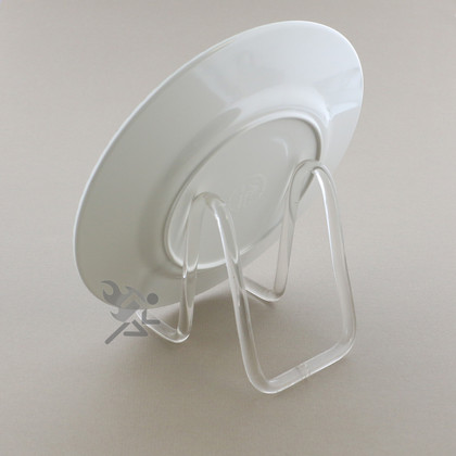 Clear Acrylic Plate Display Stand 3\  Rod Easels & Acrylic Plate Display Stand 3\