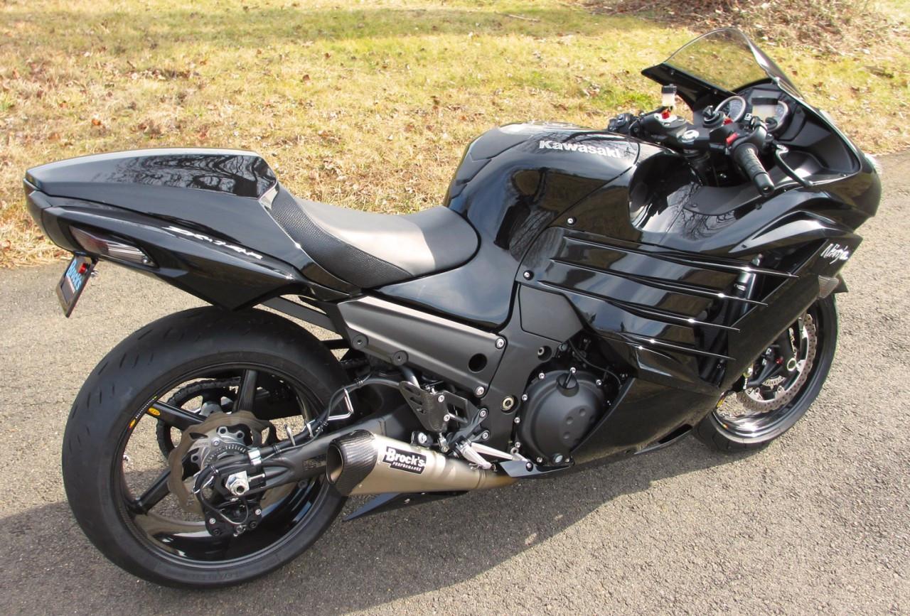 Brocks Ct Megaphone Exhaust Kawasaki Zx14 06 17 Fuel Filter Full Muffler