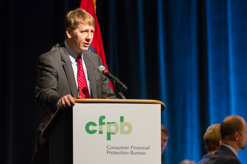 Cordray speaking on behalf of the Consumer Financial Protection Bureau