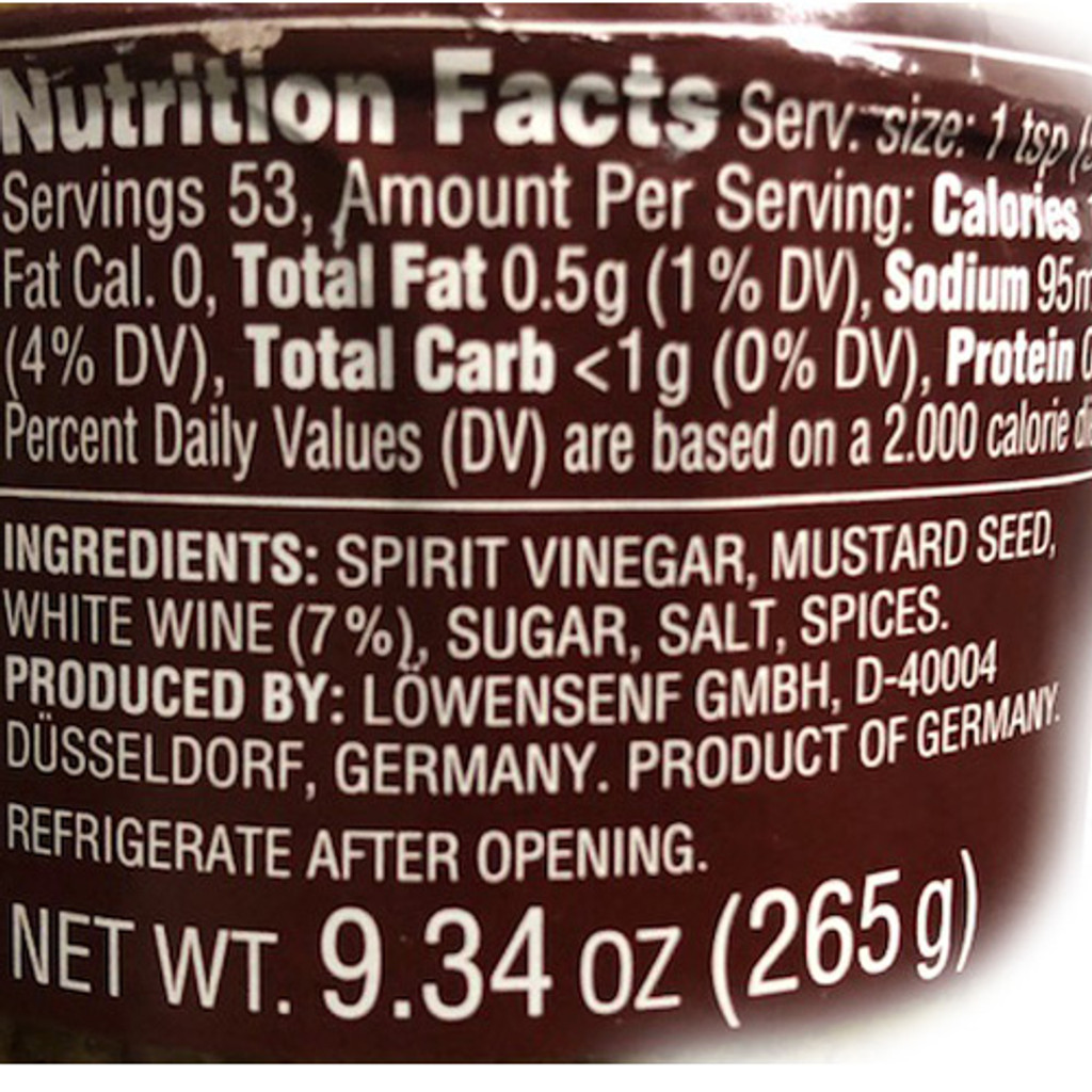 Lowensenf Whole Grain Mustard 9.34oz