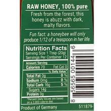 Bee Buddy German Forest Tree Honey 8.8 oz in squeeze bottle