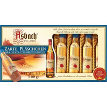 Asbach Milk Chocolate Bottles with Brandy in Gift Box 8 pieces 3.5 oz