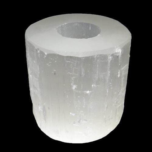 Selenite Candle Holder - Lg