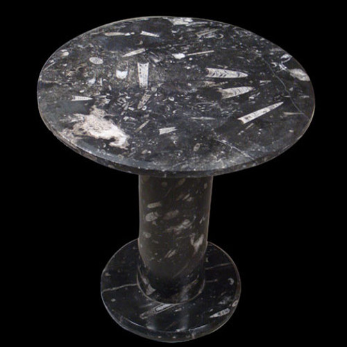 Round fossil end table