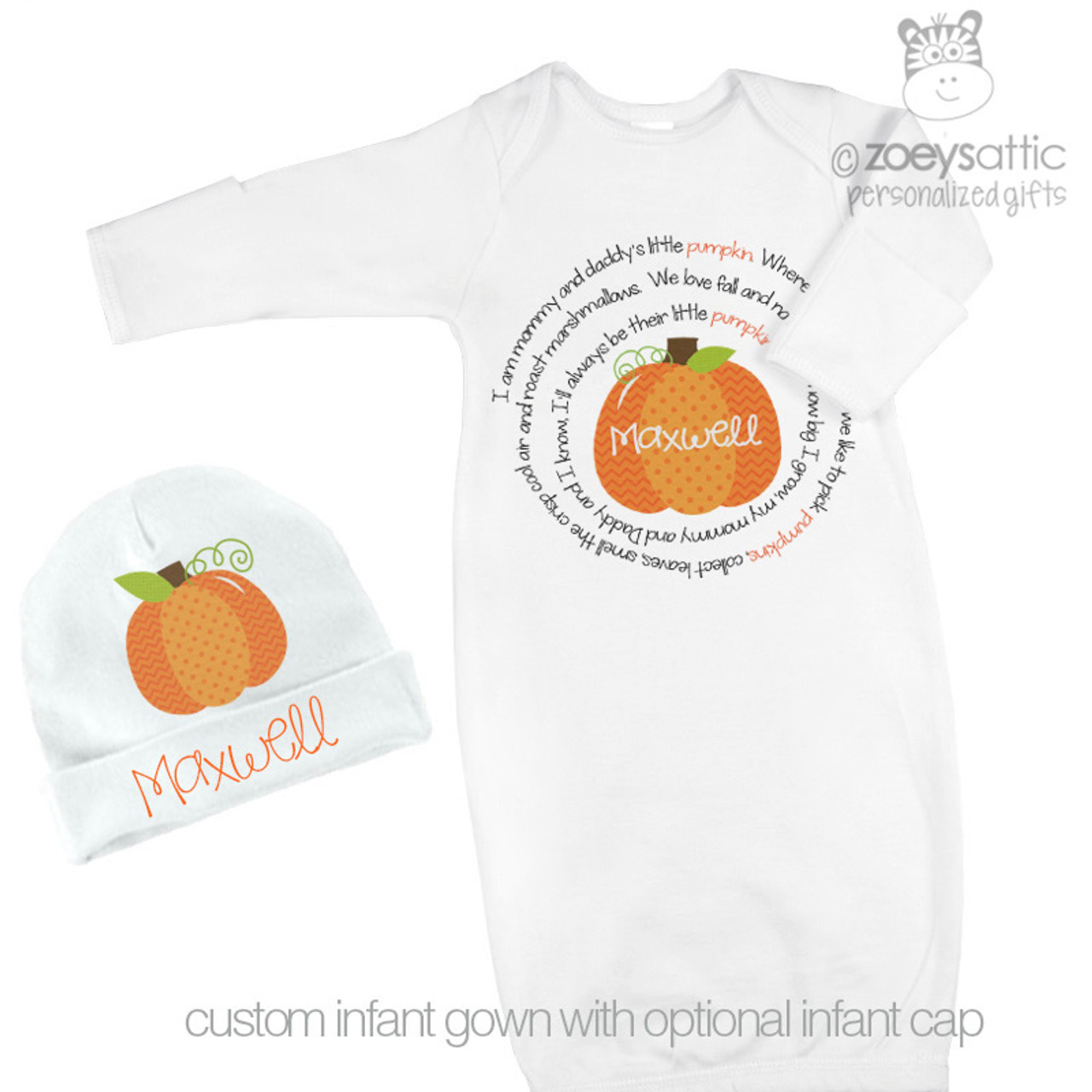 personalized infant gowns, little pumpkin homecoming gown, custom ...