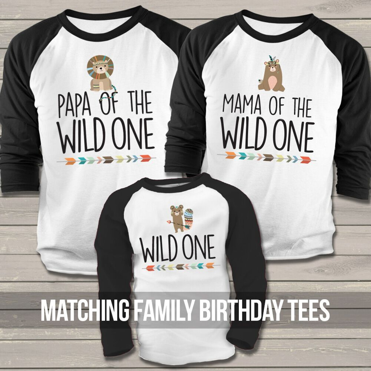 Wild One Birthday Boy Raglan Shirt Bear