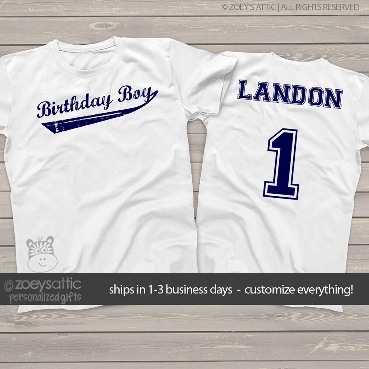 Birthday Shirt Boy Swoosh Team Personalized Tshirt