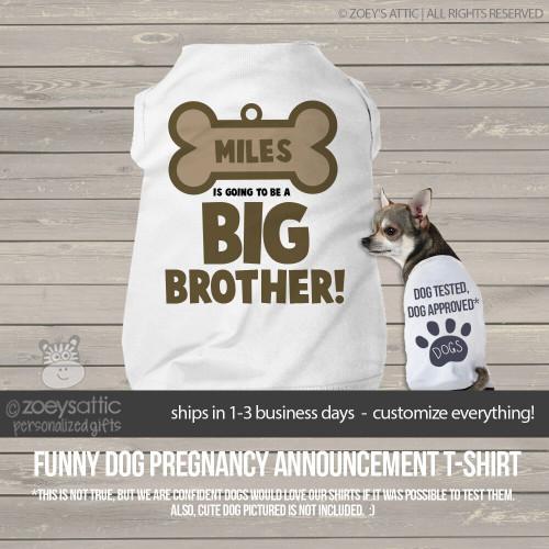Dog shirt pregnancy announcement