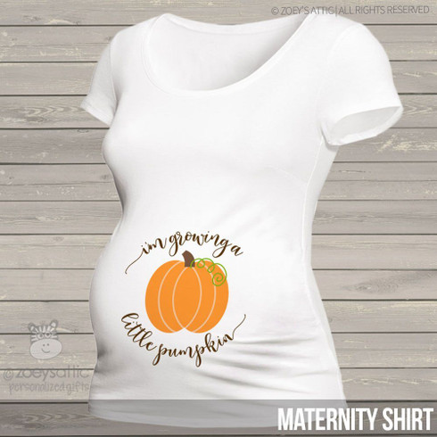 Personalized Maternity Shirt Fall Growing Pumpkin Mom To