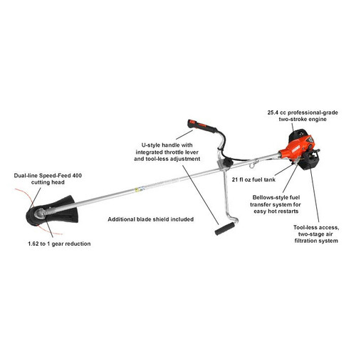 Echo SRM-2620U X-Series 25.4cc Brushcutter with Speed-Feed® 400 Head