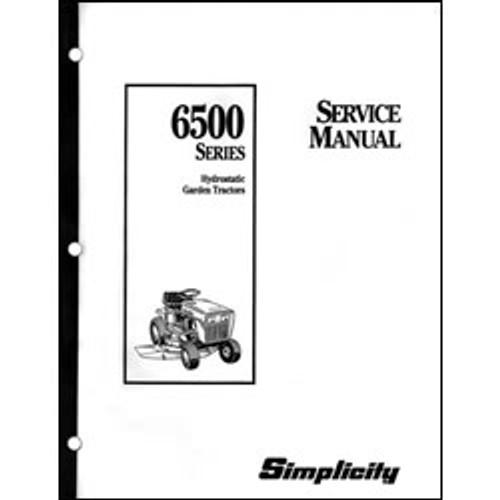 Simplicity 6500 Series Hydrostatic Garden Tractor Repair Manual 1703952