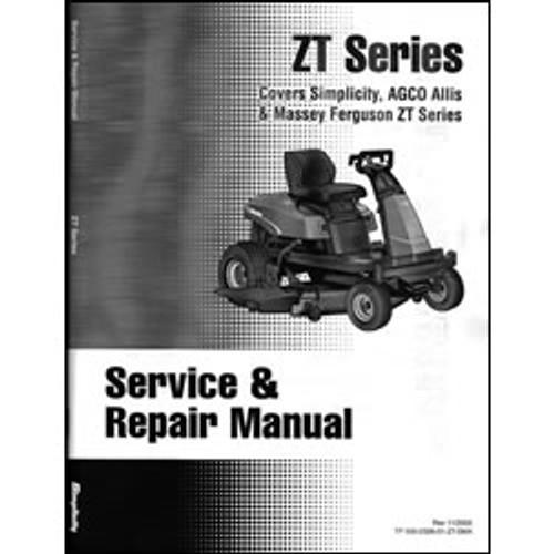 Simplicity ZT Series Repair Manual 500-2326