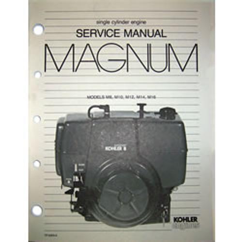 Kohler Single Cylinder Magnum Engine Repair Manual TP-2203-A