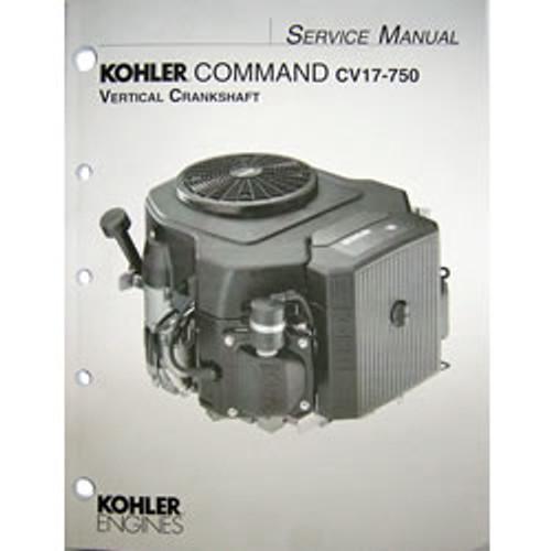 Kohler Command CV17-750 Vertical Crankshaft Engine Repair Manual 24 690 07