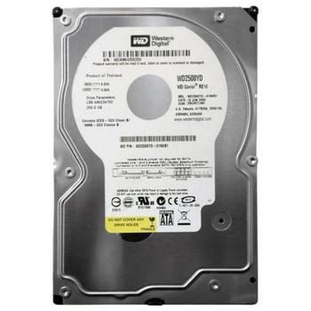 WD2500YD Western Digital 250GB 7200RPM SATA 3.0 Gbps 3.5 16MB Cache RE Hard Drive